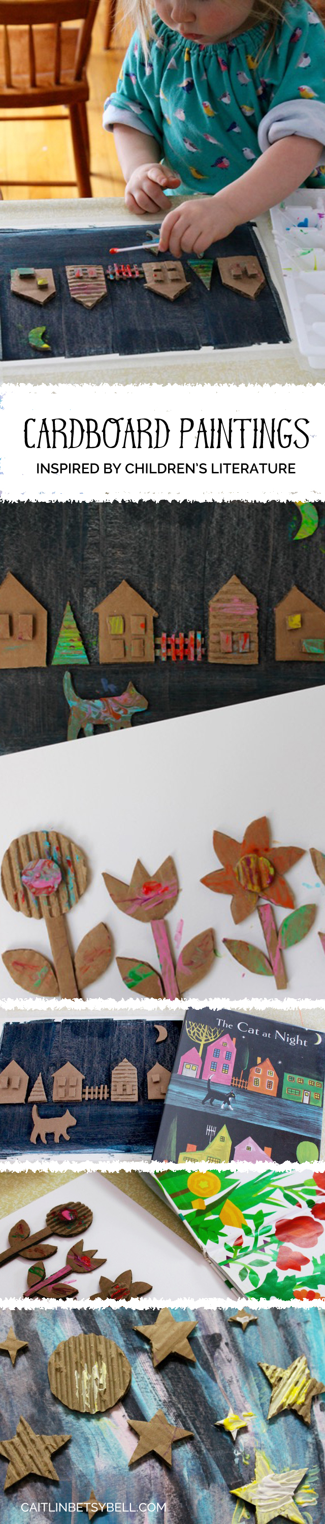 Cardboard Paintings | Caitlin Betsy Bell