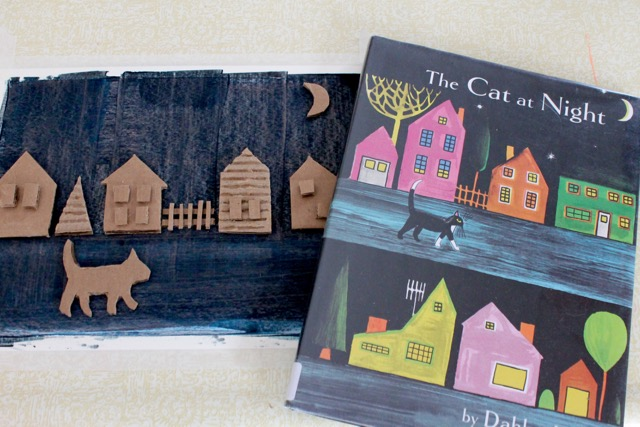 Caitlin Betsy Bell | cardboard paintings inspired by our favorite books