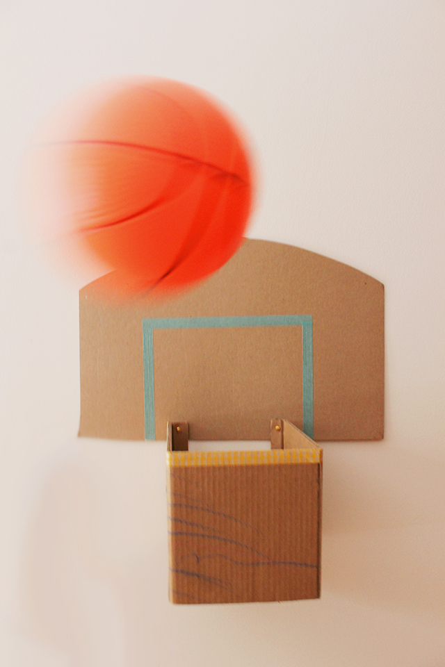 How To Make A Cardboard Basketball Hoop Caitlin Betsy Bell