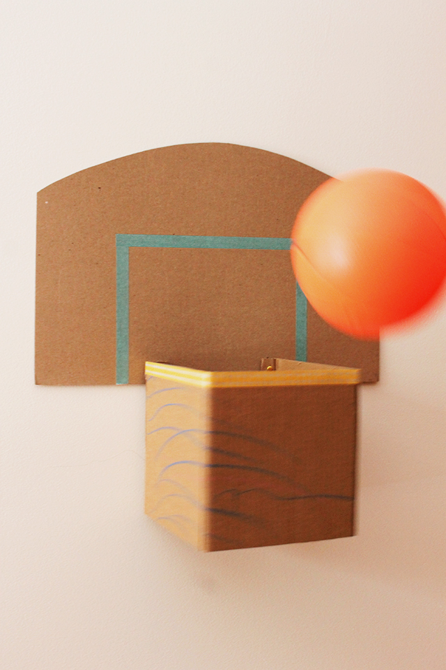 How to make a cardboard basketball hoop caitlin betsy bell for How to build a basketball goal
